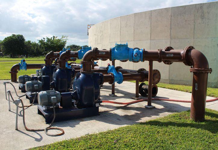 El gasto promedio para el tratamiento de mil litros de agua residual es de dos pesos. (Luis Soto/ SIPSE)