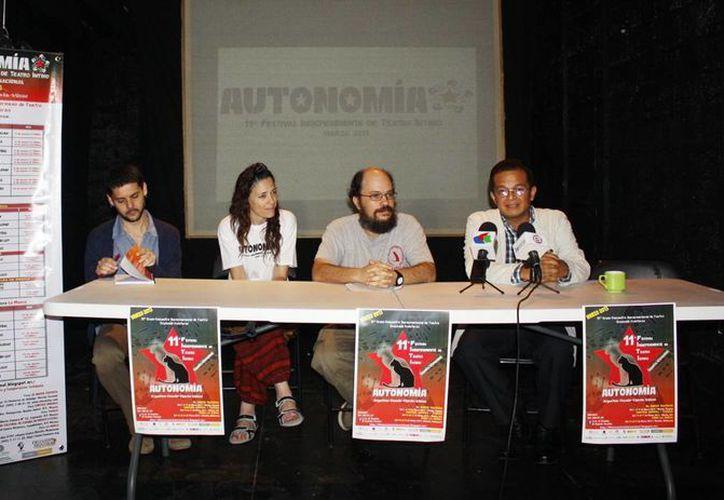 'Autonomía' es el nombre del 11 Festival Independiente de Teatro Íntimo. (José Acosta/SIPSE)