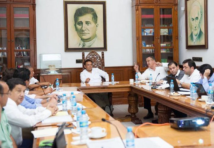La reunión en Palacio de Gobierno. (Cortesía)