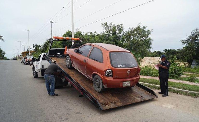 Cinco autos fueron remitidos al corralón durante el operativo. (Ángel Castilla/SIPSE)
