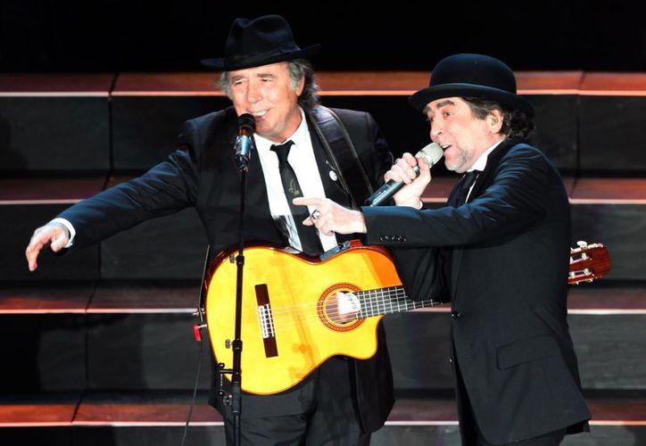 Joan Manuel Serrat y Joaquín Sabina se presentaron en el Auditorio Nacional el pasado 12 de octubre. (Archivo/Notimex)