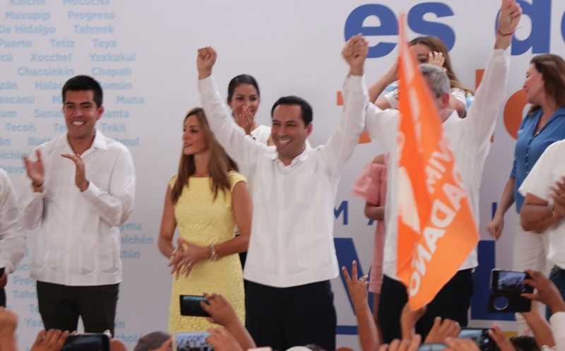 En su primer mensaje ante más de seis mil personas, Mauricio Vila Dosal llamó al trabajo en conjunto por el Estado. (Jorge Acosta/Milenio Novedades)