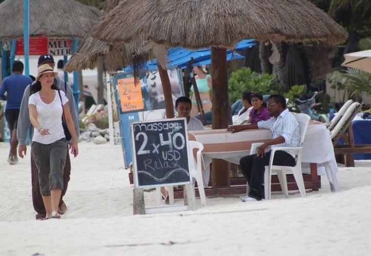 Los masajes son poco solicitados por los turistas. (Adrián Barreto/SIPSE)
