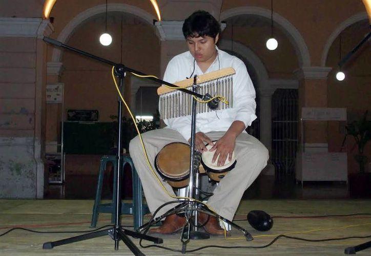 El percusionista Emmanuel Dorantes ofrecerá un concierto, esta noche, en el Museo de la Canción Yucateca. (Milenio Novedades)