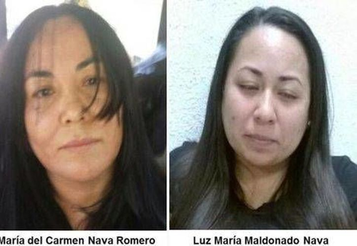 María Nava Romero fue detenida en Querétaro junto a Luz María Maldonado Nava, responsable de la negociación y cobro de rescates. (Cortesía)