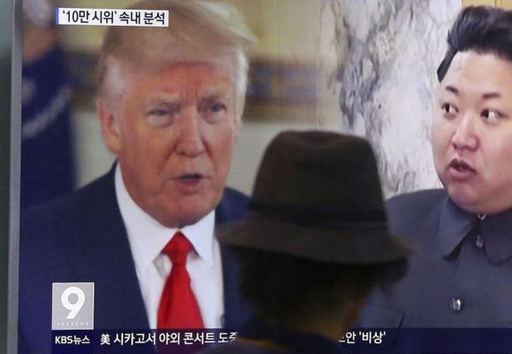 El futuro encuentro entre los presidentes de EU y Corea del Norte, se logró gracias a las presiones militares de Washington, y a las económicas, de Pekín. (AP)