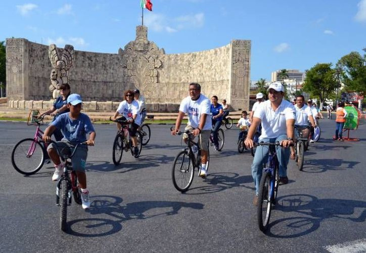La bici-ruta aumenta su presencia en Mérida. (Archivo)