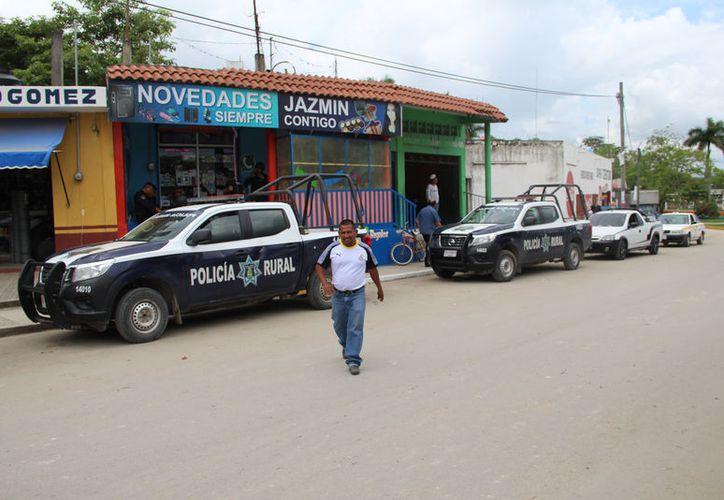 Pese al esfuerzo que realizan la Policía Rural Estatal en esta zona cañera, la delincuencia no disminuye (Foto: Carlos Castillo/SIPSE)