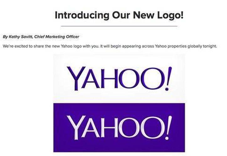Este es el nuevo diseño del logotipo de Yahoo, en su plan de poder competir con Google. (yahoo.com)