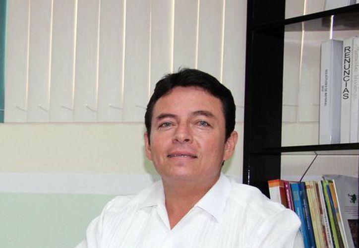 Imagen del director de Educación Secundaria, Mario Novelo Ayuso, quien habló sobre las ampliaciones en la infraestructura de la SSE. (Milenio Novedades)