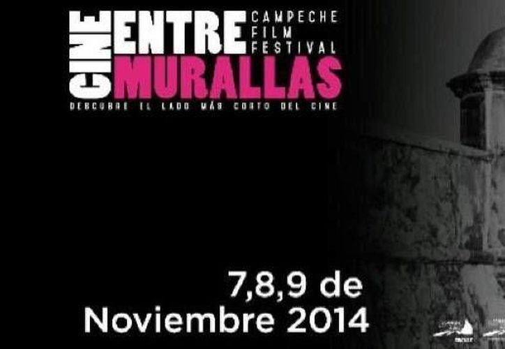 Cartel promocional del primer Festival de cine de Campeche. (Twitter.com)