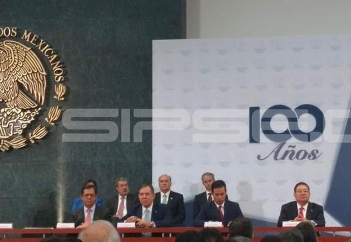 José Manuel López Campos al tomar posesión como líder de la Confederación de Cámaras Nacionales de Comercio, Servicios y Turismo (Concanaco). (SIPSE)