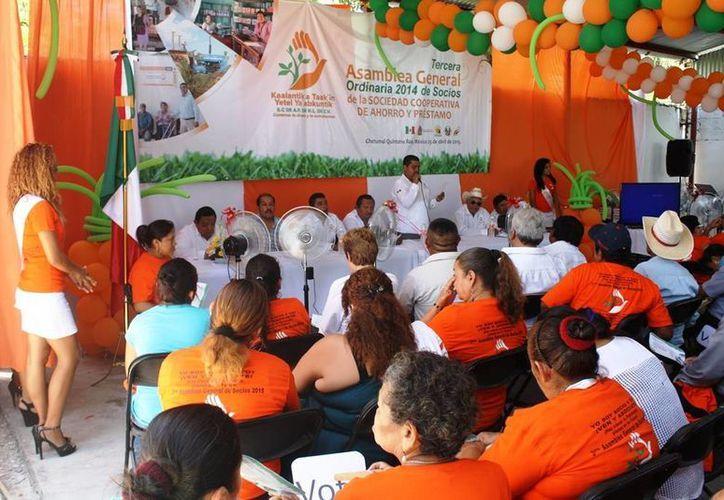 """El banco """"Cuidamos tu dinero y lo aumentamos"""" espera cerrar con 500 socios este año. (Edgardo Rodríguez/SIPSE)"""