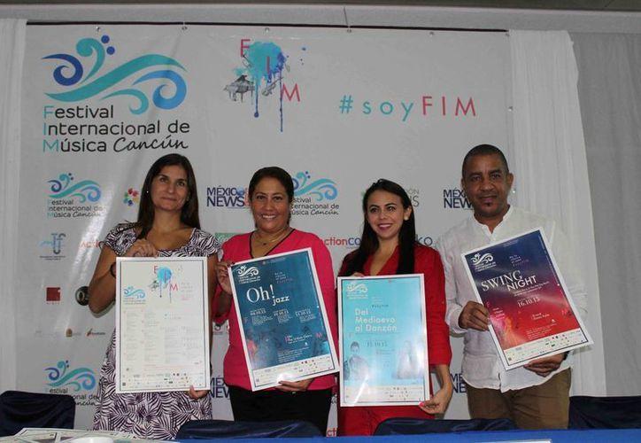 Presentan el Festival Internacional de Música Cancún 2015. (Redacción/SIPSE)