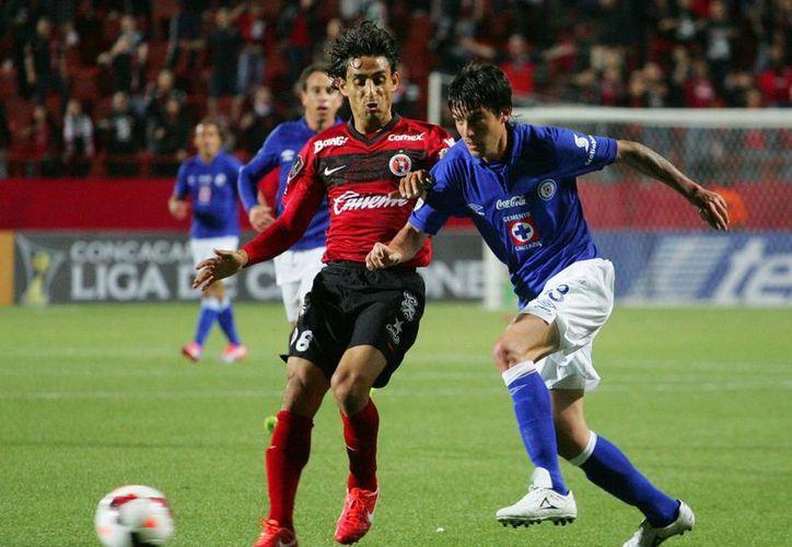 Cristian Perellano de Xolos anotó la única diana del partido contra la Máquina en el partido  celebrado en el estadio Caliente de Tijuana. (EFE)