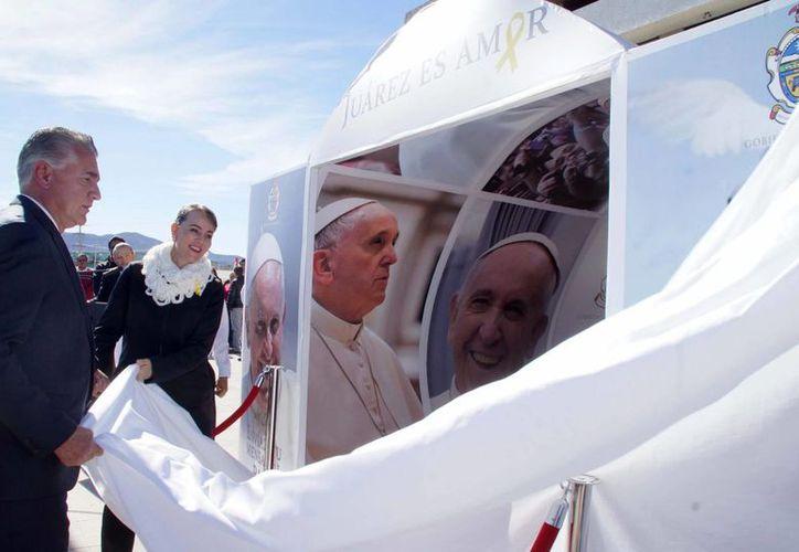 El Papa celebrará una misa a las 16:00 horas del 17 de febrero en los antiguos terrenos de la Feria Expo, junto al Estadio Olímpico Benito Juárez, a sólo unos metros de la frontera con Estados Unidos. (Notimex)