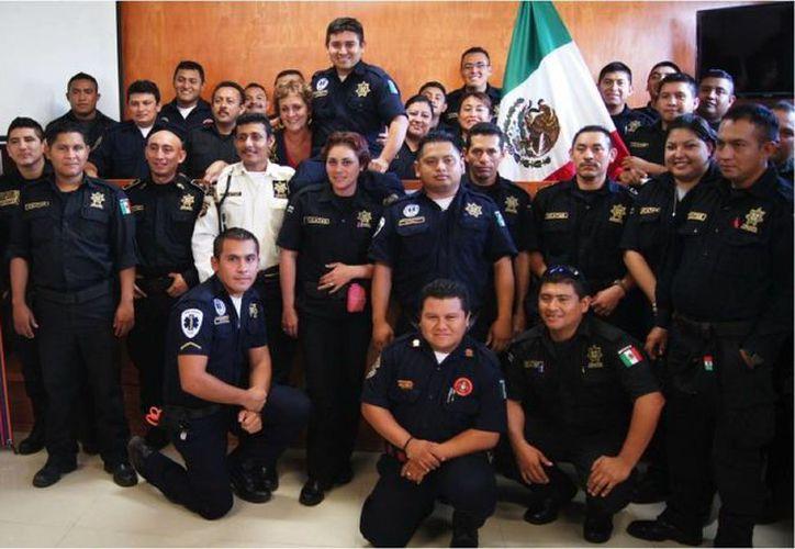 Policías de la SSP que participaron en el curso de capacitación. (Milenio Novedades)