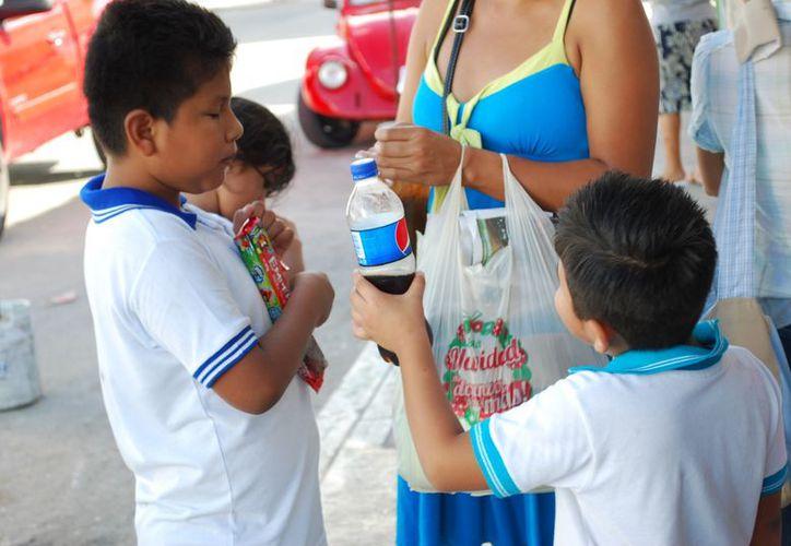 Más de 120 empresas refresqueras del país buscan reducir los problemas de obesidad en los niños. (Tomás Álvarez/SIPSE)