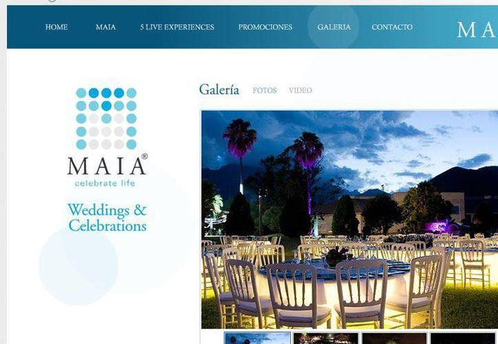 Maia Eventos también organizaba encuentros corporativos de importantes empresas de Nuevo León, según su propia página web. (maiaeventos.com.mx)
