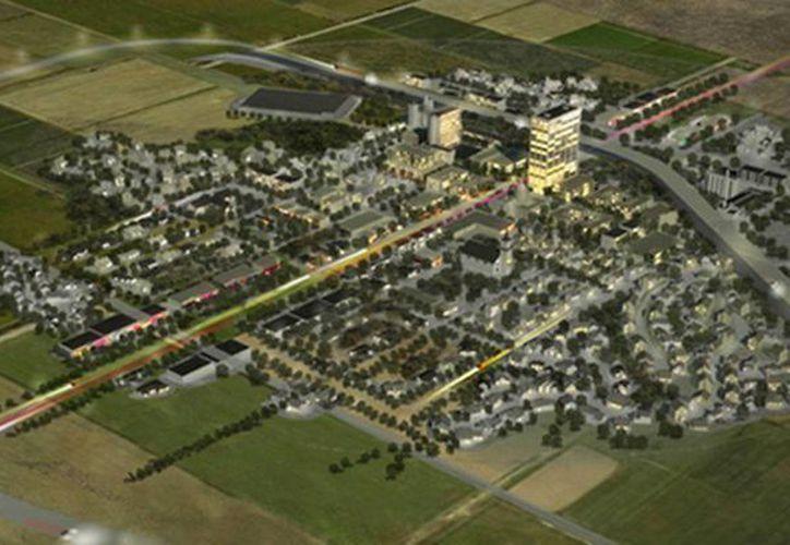 El Centro de Innovación, Pruebas y Evaluación es una especie de ciudad futurista 'fantasma'. (taringa.net)