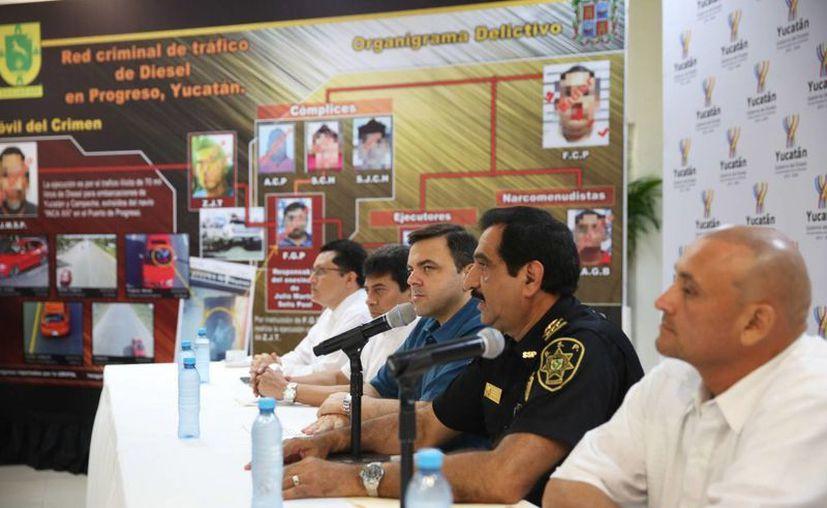 Las autoridades de Yucatán y Campeche destacaron que la estrecha colaboración permitió identificar y capturar a dos personas de la banda 'Pura gente nueva'. (Cortesía)