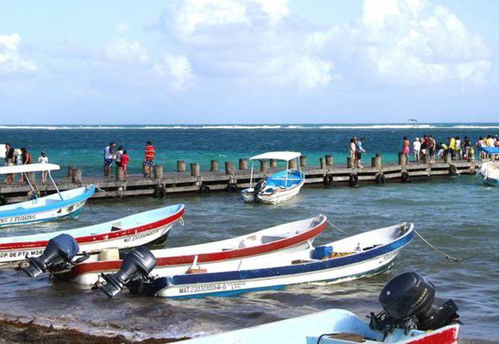 Mal tiempo afecta a las actividades turísticas. (Jesús Tijerina/SIPSE)