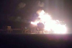 Incendio en plataforma de Pemex