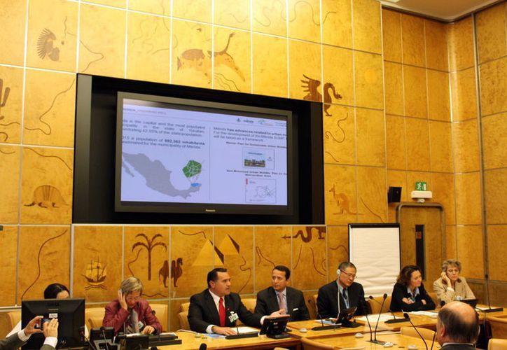 Renán Barrera se reunió en Ginebra, Suiza para entablar reuniones con diferentes mandatarios.(Foto: Milenio Novedades)