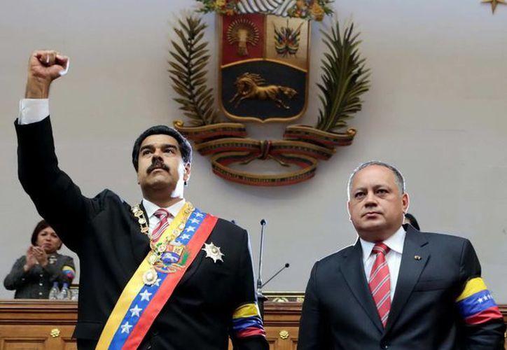 """""""Yo seré candidato presidencial y seré presidente de la República, no por ambición personal, sino porque él (Chávez) me lo ordenó"""", manifestó Nicolás Maduro. (Notimex)"""