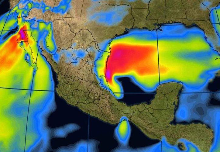 En la Península de Yucatán, se pronostica cielo medio nublado y lluvias escasas. (Conagua)