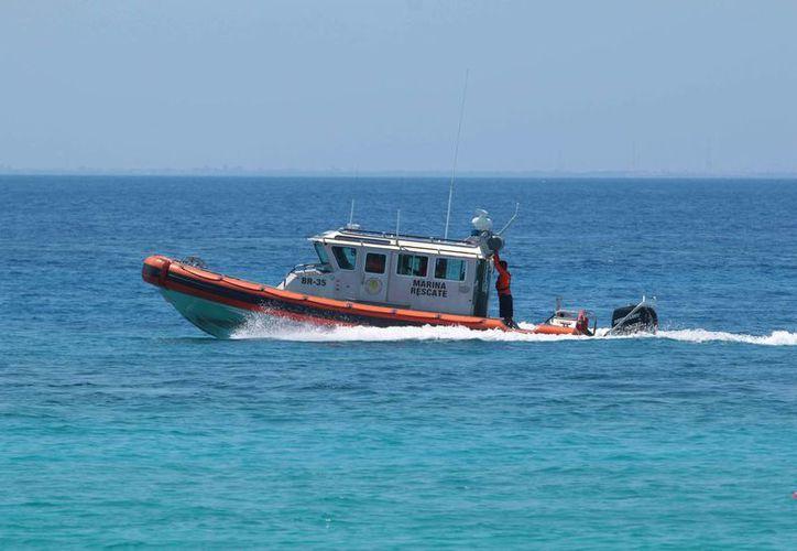 Amplían la búsqueda de una de las dos motos acuáticas que continua en calidad de desaparecida. (Gustavo Villegas/SIPSE)