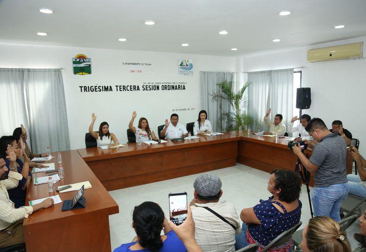 Durante una sesión ordinara se aprobó el presupuesto del municipio. (Cortesía)