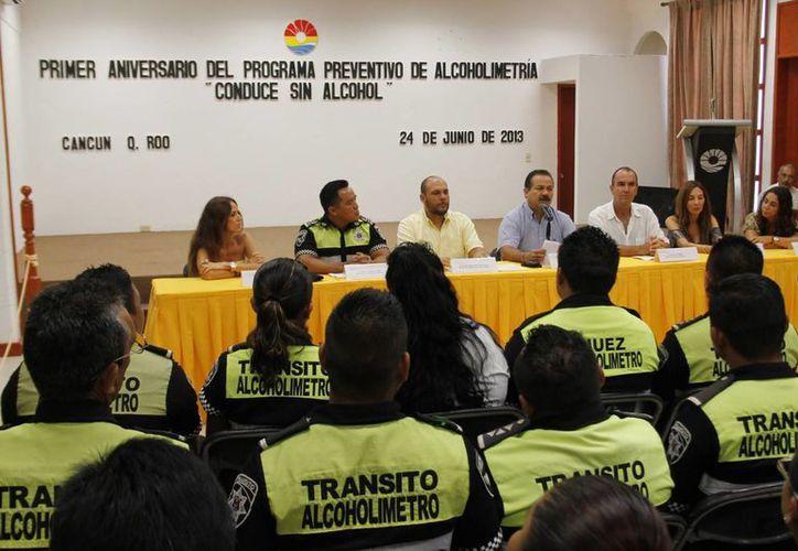 """Las autoridades dieron un informe del programa """"Conduce sin Alcohol"""". (Jesús Tijerina/SIPSE)"""