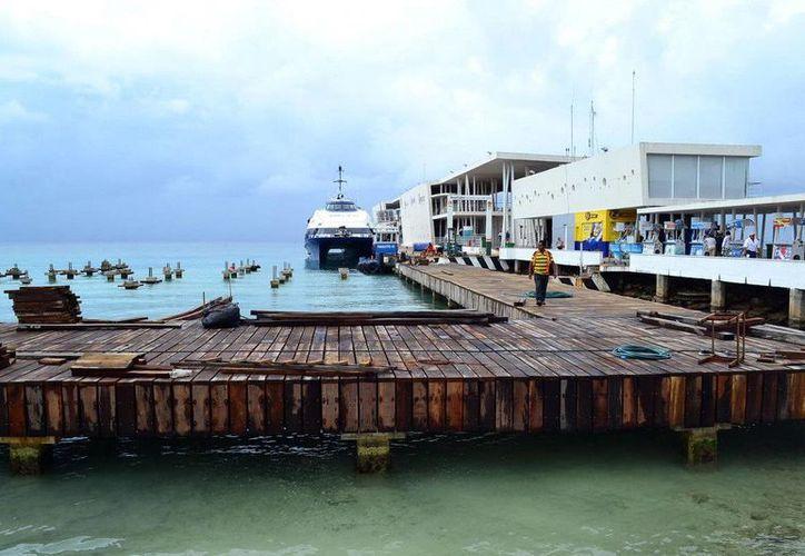 La construcción del muelle San Miguel de Cozumel se encuentra al 70% de construcción. (Redacción/SIPSE)