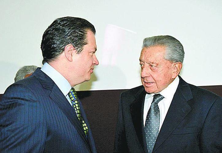 Miguel Alemán Magnani y el ex gobernador de Veracruz. (Milenio)