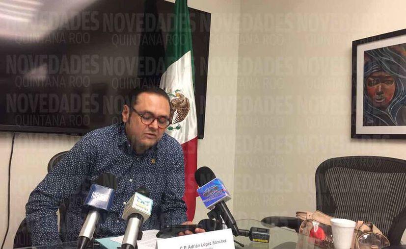 El presidente de la Coparmex en Cancún ofreció una conferencia ante los medios de comunicación. (Luis Soto/SIPSE)