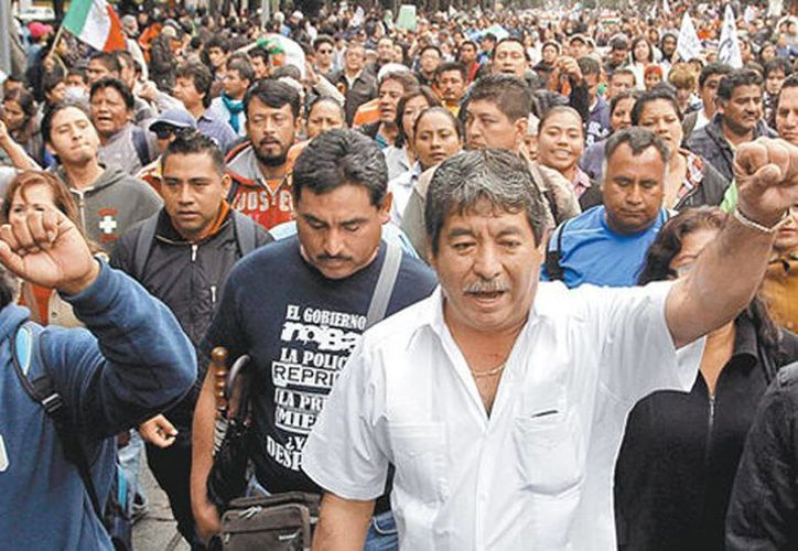 Rubén Núñez aseguró que, sin dar clases, percibe un salario de 26 mil pesos mensuales por sus actividades políticas y sindicales. (Archivo/Milenio)
