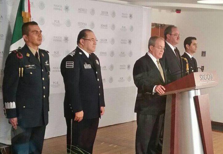 El comisionado Nacional de Seguridad, Monte Alejandro Rubido, informó sobre la detención de uno de los principales distribuidores de droga de Héctor Beltrán Leyva. (Foto: @sapiencarlo)