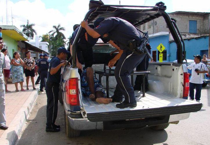 Grupos vandálicos mantienen en zozobra a la población. (Manuel Salazar/SIPSE)
