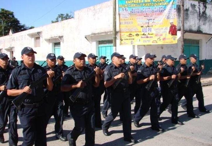 La aplicación de exámenes de control y confianza para la certificación de la Policía Municipal Preventiva se ha mantenido en espera. (Manuel Salazar/SIPSE)