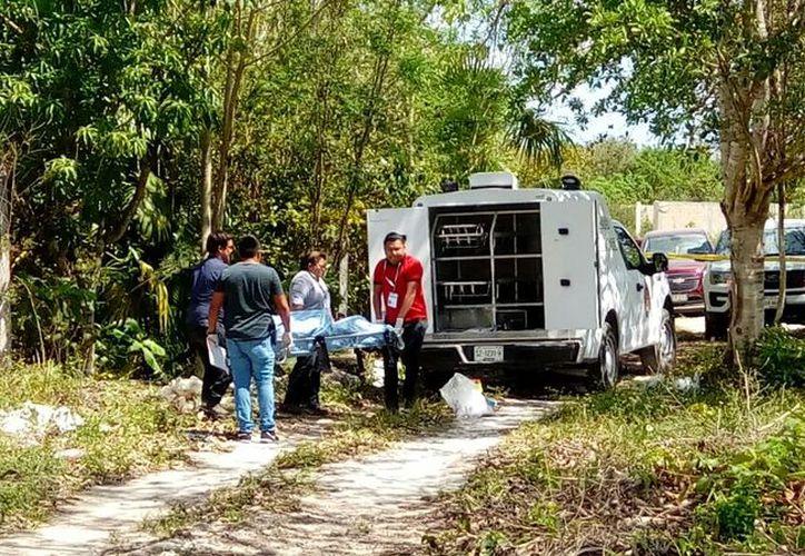 El cuerpo fue hallado a un costado de la carretera conocida como Gas Auto. (Redacción/SIPSE)
