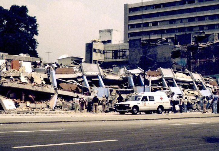 De poder cuantificar los daños que dejó el sismo del 85 en la Ciudad de México, estos representarían alrededor de cinco mil millones de dólares. (Notimex)