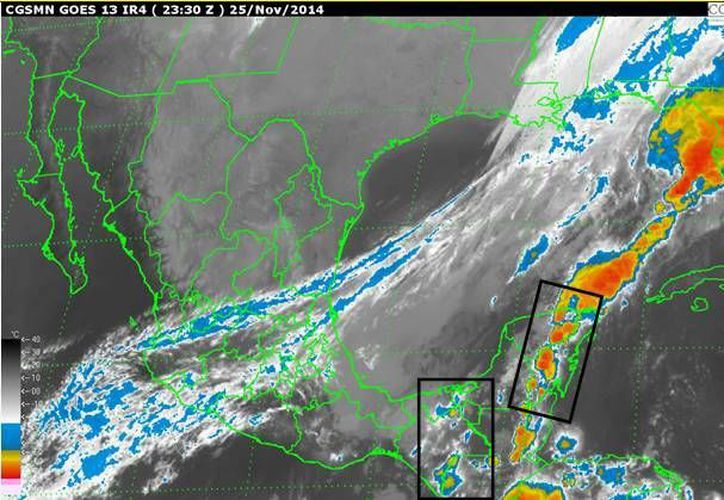 Se espera el ingreso del frente frío 14 a la Península de Yucatán en las próximas horas. (SIPSE)