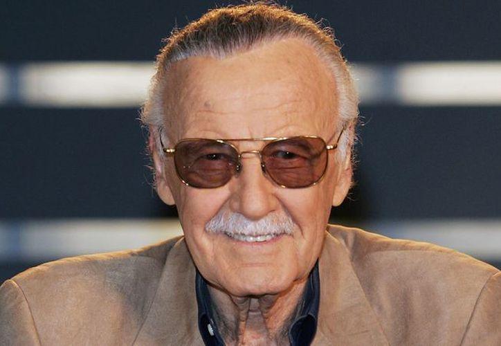 Stan Lee desfiló por la alfombra roja de Pantera Negra el lunes pasado. (Foto: Contexto)