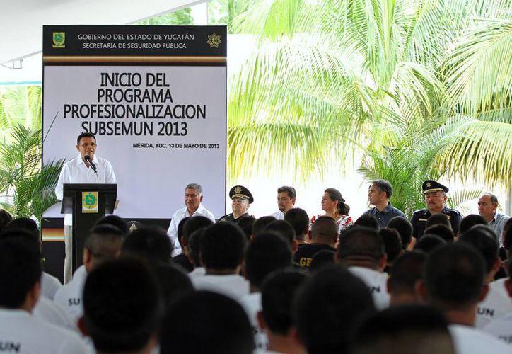El gobernador Rolando Zapata Bello destacó que la tranquilidad de los yucatecos está por encima de límites administrativos y diferencias políticas. (Cortesía)