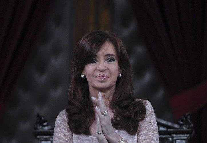 Imagen de la presidenta de Argentina, Cristina Fernández, quien fue la responsable de crear la Agencia Federal de Inteligencia. (Archivo/EFE)