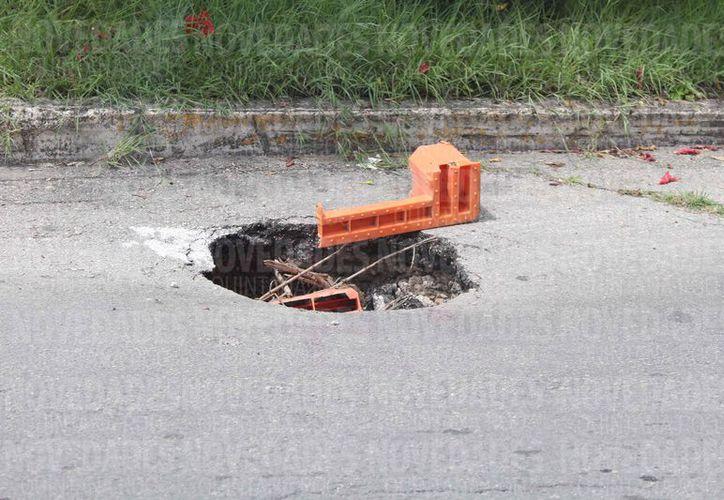 El tipo de suelo es propicio a los hundimientos. (Ángel Castilla/SIPSE)