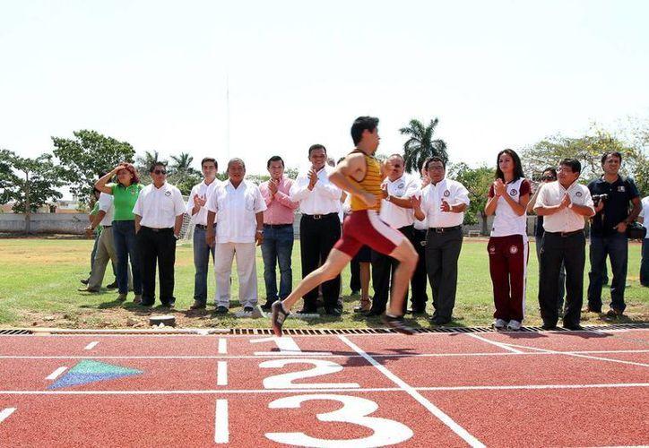 El ITM, única institución del sureste con pista para la práctica de atletismo de alto nivel. (Milenio Novedades)
