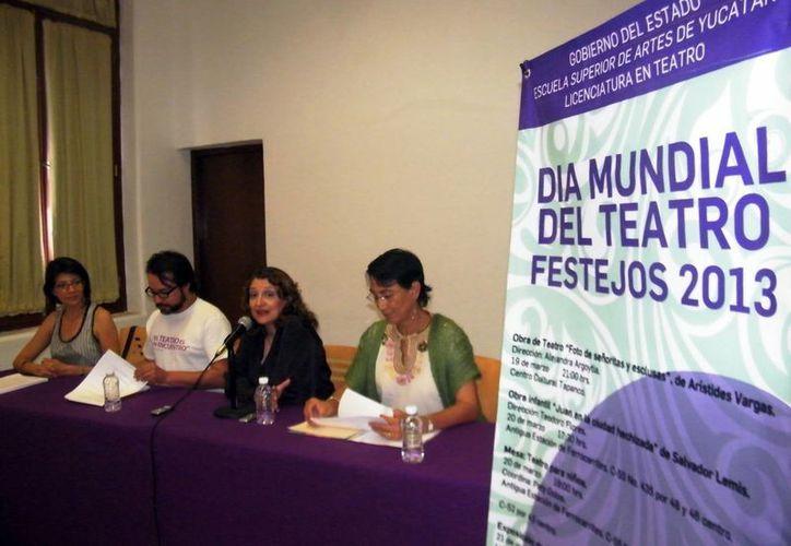 Los maestros de la ESAY dieron los pormenores de las actividades. (Cecilia Ricárdez/SIPSE)
