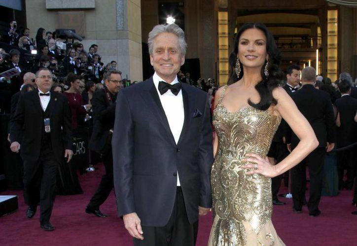 Catherine con su esposo, el también actor Michael Douglas. (Agencias)